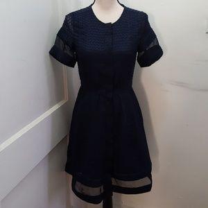 Banana Republic women's black lace dress size 2